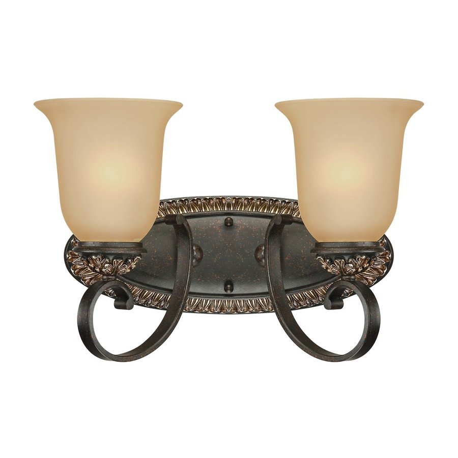 Shop Volume International 2 Light Bristol Vintage Bronze With Antique Gold Ba