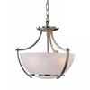 Volume International Durango 14.25-in W Brushed Nickel Pendant Light with Marbleized Shade