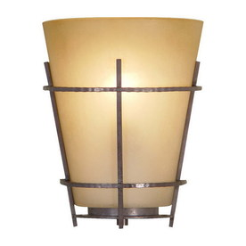 Volume International Lodge 8-in W 1-Light Frontier Iron Pocket Hardwired Wall Sconce