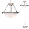 Volume International 15-1/2-in W Lunar Brushed Nickel Pendant Light