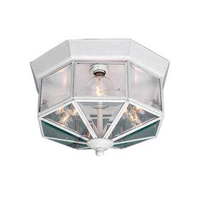Volume International 10.5-in W White Ceiling Flush Mount