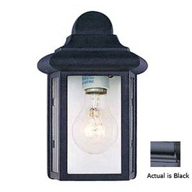 Volume International 8-3/4-in Black Outdoor Wall Light