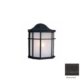 Volume International 10-in Rust Outdoor Wall Light