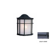 Volume International 10-in Black Outdoor Wall Light