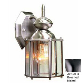 Volume International 10-1/4-in Brushed Nickel Outdoor Wall Light