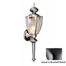 Volume International 25-1/2-in Brushed Nickel Outdoor Wall Light