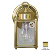 Volume International 8-in Polished Brass Outdoor Wall Light