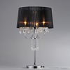 Warehouse of Tiffany Victoria 28-in Chrome Table Lamp with Fabric Shade