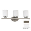 Kenroy Home 3-Light Mezzanine Brushed Steel Bathroom Vanity Light