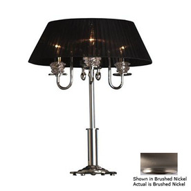 Lustrarte 24-1/2-in Brushed Nickel Table Lamp with Glass Shade