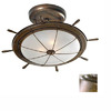 Lustrarte 19.29-in W Earth Semi-Flush Mount Light