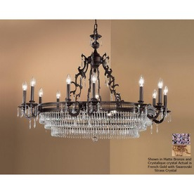 Classic Lighting Renaissance 18-Light French Gold Crystal Accent Chandelier