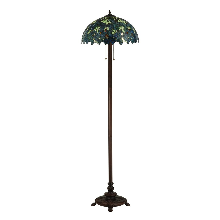 63 in tiffany style indoor floor lamp with glass shade at. Black Bedroom Furniture Sets. Home Design Ideas