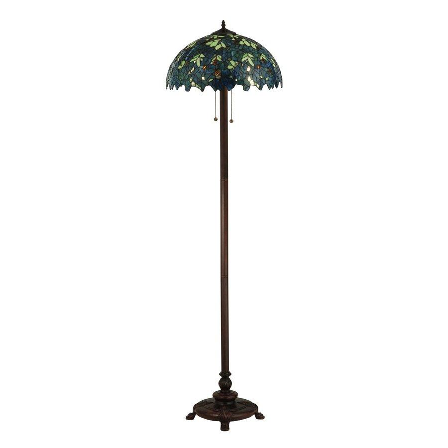 meyda tiffany nightfall wisteria 63 in tiffany style indoor floor lamp. Black Bedroom Furniture Sets. Home Design Ideas