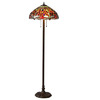 Warehouse of Tiffany Dragonfly 58-in Tiffany-Style Shaded Floor Lamp with Glass Shade