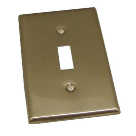 Residential Essentials 1-Gang Satin Nickel Standard Toggle Steel Wall Plate