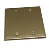 Residential Essentials 2-Gang Satin Nickel Blank Steel Wall Plate