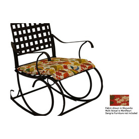 Blazing Needles Tropical Cushion for Rocking Chair