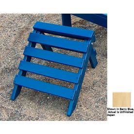 Prairie Leisure Design 14-in L x 14-in W x 11-in H Unfinished Aspen Wood Ottoman