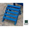 Prairie Leisure Design 14-in L x 14-in W x 11-in H Hunter Green Wood Ottoman