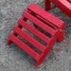 Prairie Leisure Design 12-in L x 12-in W x 9-in H Fire Engine Red Wood Ottoman