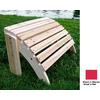 Shine Company 22-in L x 12-1/4-in W x 12-in H Wood Ottoman