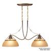 Volume International Gallery 12.75-in W 2-Light Restoration Brass Kitchen Island Light with Shade