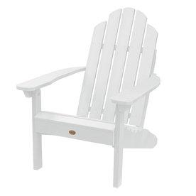 Highwood USA Westport White Plastic Patio Adirondack Chair