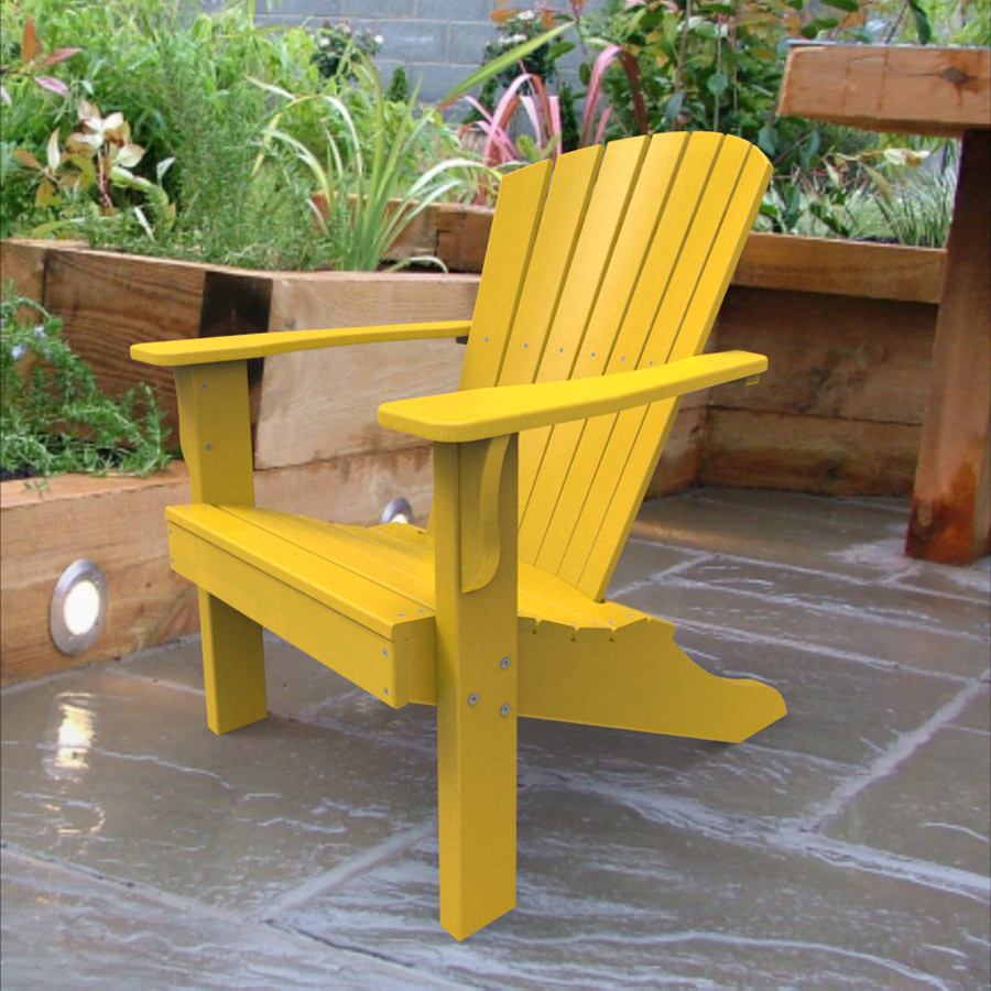 Jbods popular yellow adirondack chair plastic for Outdoor furniture yellow