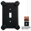 Anne at Home Oceanus 1-Gang Rust with Copper Wash Standard Toggle Pewter Wall Plate