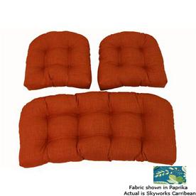 Blazing Needles Skyworks Carribean Patio Chair Cushion