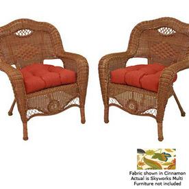 Blazing Needles 19-in L x 19-in W Skyworks Multi Patio Chair Cushion