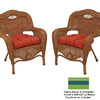 Blazing Needles 19-in L x 19-in W Haliwell Caribbean Chair Cushion