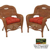 Blazing Needles 19-in L x 19-in W Tropique Raven Chair Cushion