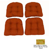 Blazing Needles 19-in L x 19-in W Barclay Terrace Honey Chair Cushion