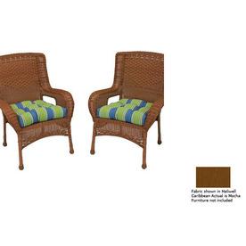 Blazing Needles Mocha Patio Chair Cushion