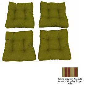 Blazing Needles Kingsley Stripe Ruby Patio Chair Cushion