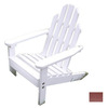 Prairie Leisure Design Satin White Adirondack Chair
