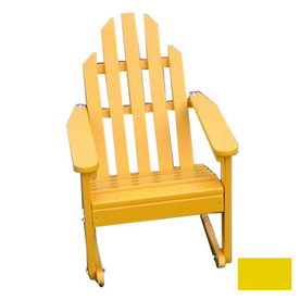 Prairie Leisure Design Buttercup Yellow Wood Rocking Adirondack Chair