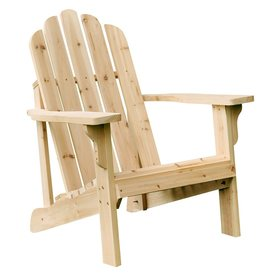 Shine Company Marina Natural Cedar Patio Adirondack Chair