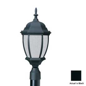 Thomas Lighting Convington 21-1/2-in Black Pier Mount Light
