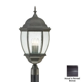 Thomas Lighting Convington 27-in Painted Bronze Pier Mount Light