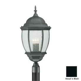 Thomas Lighting Convington 27-in Black Pier Mount Light