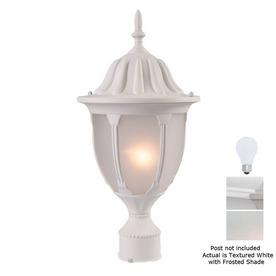 Acclaim Lighting Suffolk 19-in Textured White Pier Mount Light
