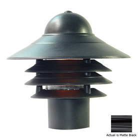Acclaim Lighting Mariner 10-in Matte Black Pier Mount Light