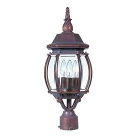 International Lighting 21-in Distressed Bronze Pier Mount Light