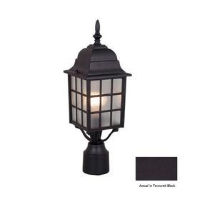 Cascadia Lighting Vista 18-in Textured Black Pier Mount Light