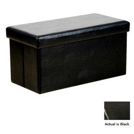 Warehouse of Tiffany Kirstina Black Rectangular Ottoman
