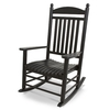 POLYWOOD Black Outdoor Rocking Chair