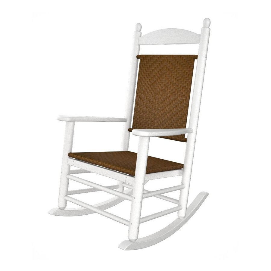 ... Recycled Plastic Woven Seat Outdoor Rocking Chair at Lowes.com
